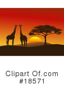 Royalty-Free (RF) giraffe Clipart Illustration #18571