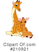 Giraffe Clipart #210921 by Pushkin