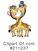 Royalty-Free (RF) giraffe Clipart Illustration #211237