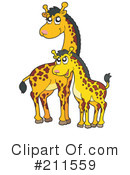 Royalty-Free (RF) Giraffe Clipart Illustration #211559