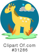 Royalty-Free (RF) giraffe Clipart Illustration #31286