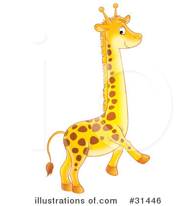 Giraffe Clipart #31446 by Alex Bannykh