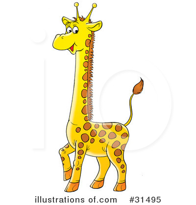 Giraffe Clipart #31495 by Alex Bannykh