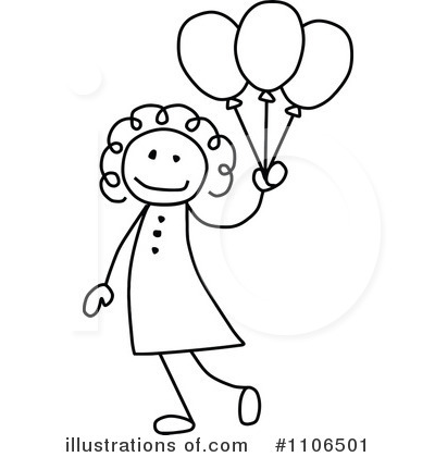 Royalty-Free (RF) Girl Clipart Illustration by C Charley-Franzwa - Stock Sample #1106501