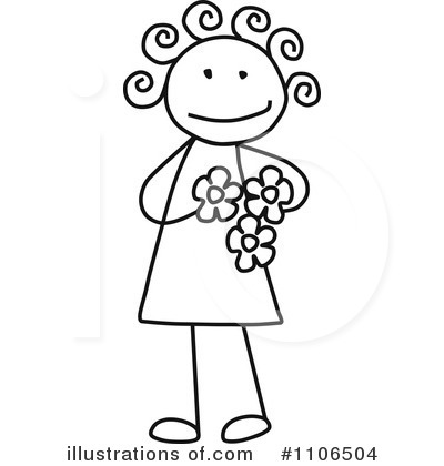 Royalty-Free (RF) Girl Clipart Illustration by C Charley-Franzwa - Stock Sample #1106504