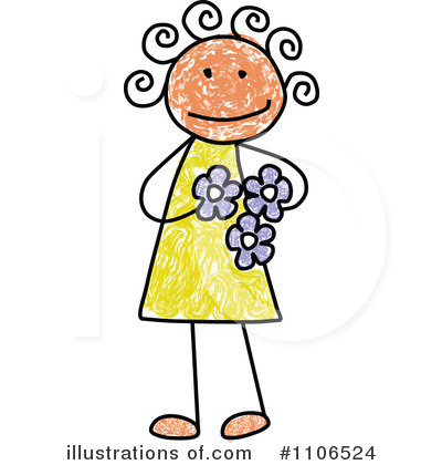 Royalty-Free (RF) Girl Clipart Illustration by C Charley-Franzwa - Stock Sample #1106524