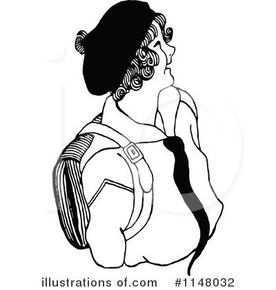 School Girl Clipart #1148032 by Prawny Vintage