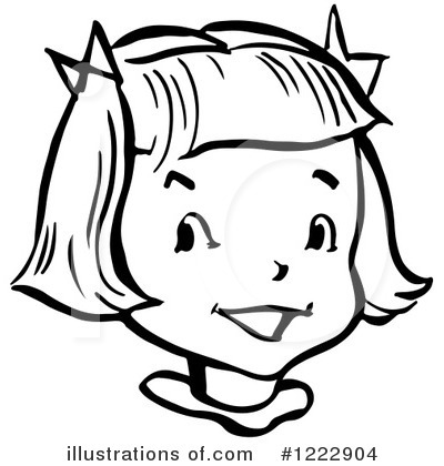 Woman Face Clipart Black And White Girl Clipart #1222904 ...