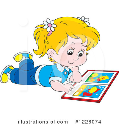 Reading Clipart #1228074 by Alex Bannykh
