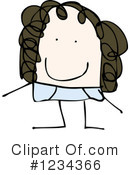 Girl Clipart #1234366 by lineartestpilot
