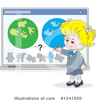 School Girl Clipart #1241550 by Alex Bannykh