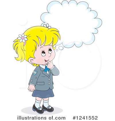 School Girl Clipart #1241552 by Alex Bannykh