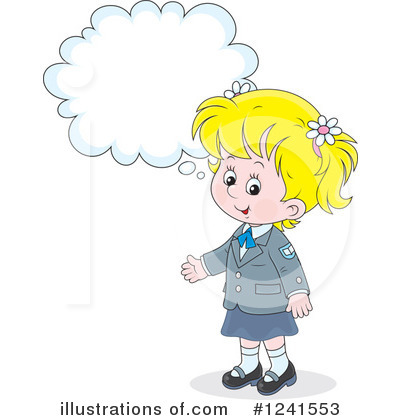 School Girl Clipart #1241553 by Alex Bannykh