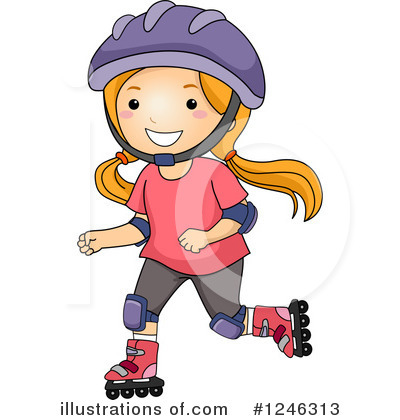 Skating Clipart #1246313 by BNP Design Studio