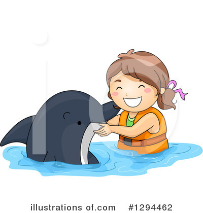 Dolphin Clipart #1294462 by BNP Design Studio