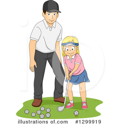 Golfing Clipart #1299919 by BNP Design Studio