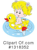 Royalty-Free (RF) Girl Clipart Illustration #1318352