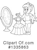 Royalty-Free (RF) Girl Clipart Illustration #1335863