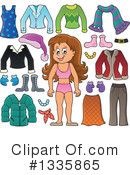 Royalty-Free (RF) Girl Clipart Illustration #1335865