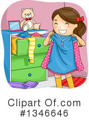 Royalty-Free (RF) Girl Clipart Illustration #1346646