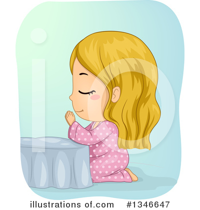 Praying Clipart #1346647 by BNP Design Studio
