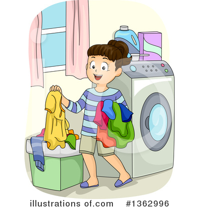 Laundry Clipart #1362996 by BNP Design Studio