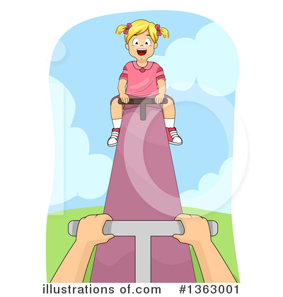 Teeter Totter Clipart #1363001 by BNP Design Studio