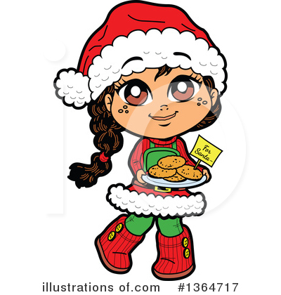 Royalty-Free (RF) Girl Clipart Illustration by Clip Art Mascots - Stock Sample #1364717