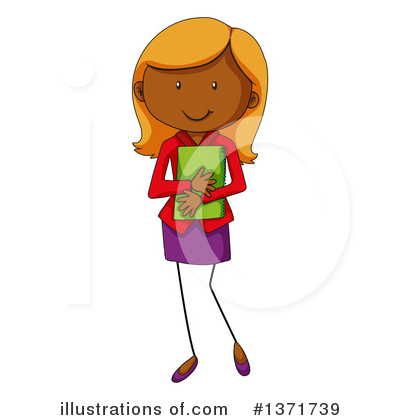 Royalty-Free (RF) Girl Clipart Illustration by Graphics RF - Stock Sample #1371739