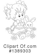 Girl Clipart #1389303 by Alex Bannykh