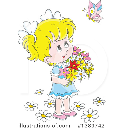 Girl Clipart #1389742 by Alex Bannykh