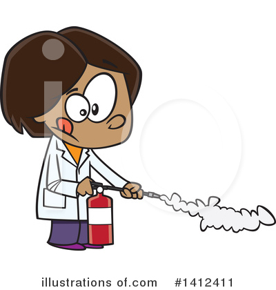 Fire Extinguisher Clipart #1412411 by toonaday