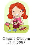 Royalty-Free (RF) Girl Clipart Illustration #1415687