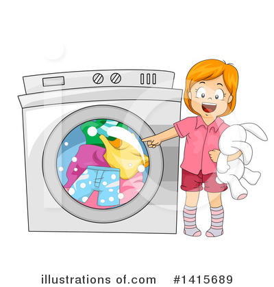Washing Machine Clipart #1415689 by BNP Design Studio