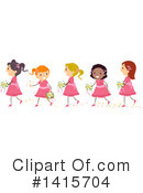 Girl Clipart #1415704 by BNP Design Studio