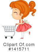 Royalty-Free (RF) Girl Clipart Illustration #1415711