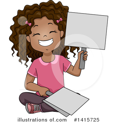 School Girl Clipart #1415725 by BNP Design Studio