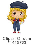 Royalty-Free (RF) Girl Clipart Illustration #1415733