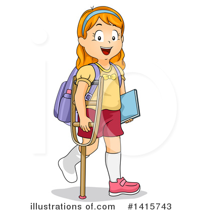 School Girl Clipart #1415743 by BNP Design Studio