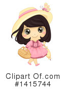 Royalty-Free (RF) Girl Clipart Illustration #1415744