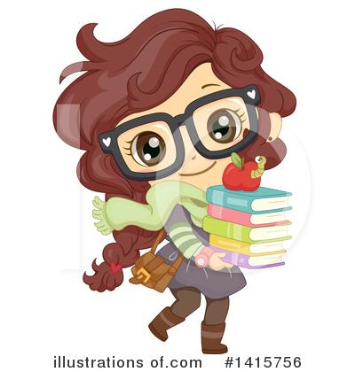 School Girl Clipart #1415756 by BNP Design Studio