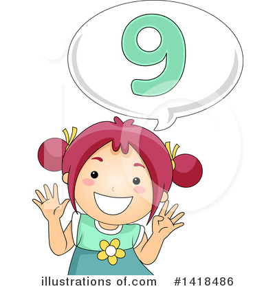 Number Clipart #1418486 by BNP Design Studio