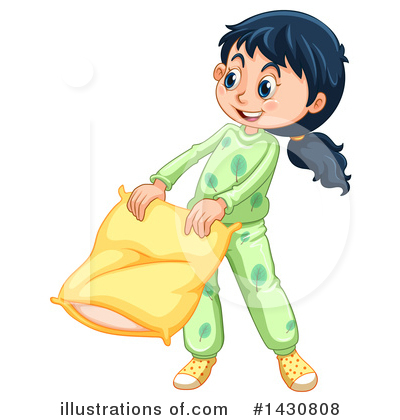 Pillow Fight Clipart #1430808 by Graphics RF
