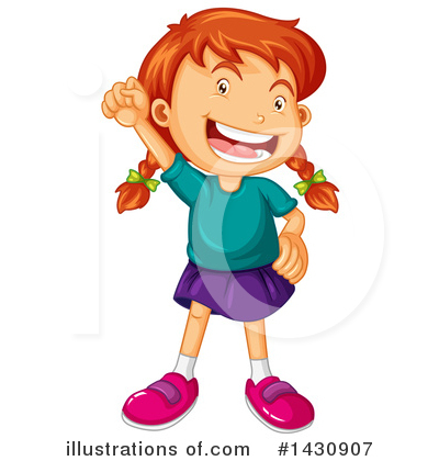 Royalty-Free (RF) Girl Clipart Illustration by Graphics RF - Stock Sample #1430907