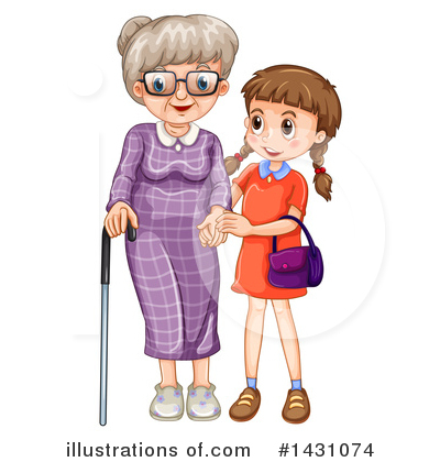 Senior Woman Clipart #1431074 by Graphics RF