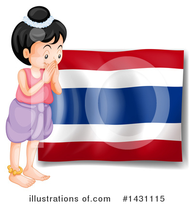 Thai Flag Clipart #1431115 by Graphics RF