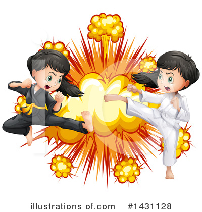 Karate Clipart #1431128 by Graphics RF