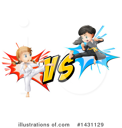 Karate Clipart #1431129 by Graphics RF