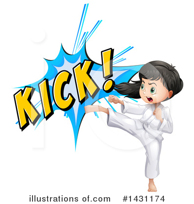 Karate Clipart #1431174 by Graphics RF
