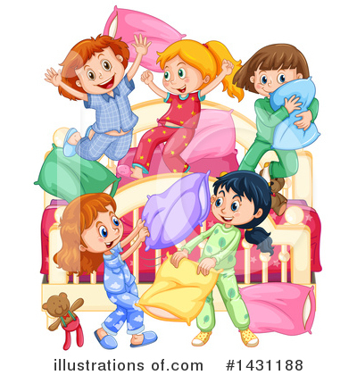 Pillow Fight Clipart #1431188 by Graphics RF
